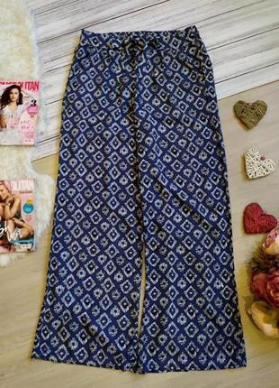 Красивые летние  вискозные брюки с принтом размер 12-14 (42-44)