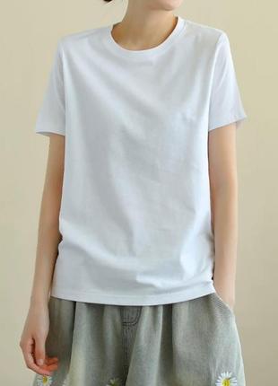 Базовая белая хлопковая футболка