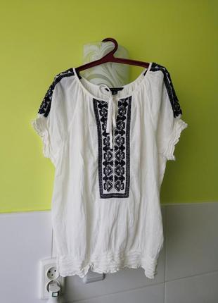 Вышиванка вышитая блуза tommy hilfiger