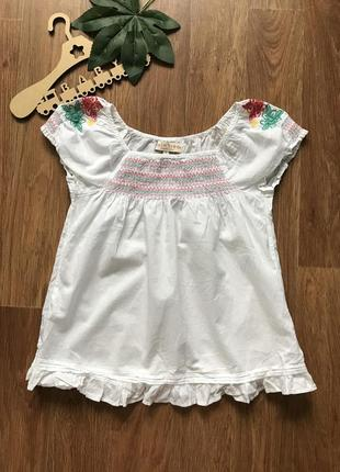 Красивая блузка туника вышиванка футболка m&s