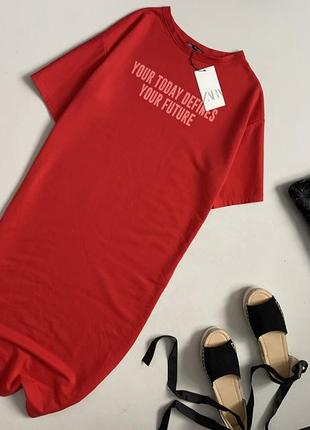 Новое трендовое платье футболка миди zara