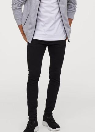 Стильные качественные джинсы h&m super skinny fit
