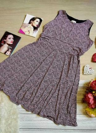 Красивое платье в мелкий горошек размер 16-18 (46-48)