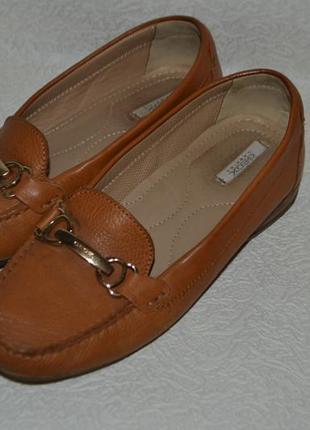 Женские туфли geox respira 24 см 37 размер кожа