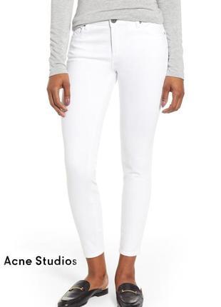 Белые люксовые джинсы acne studios скинни зауженные джинси штаны брюки
