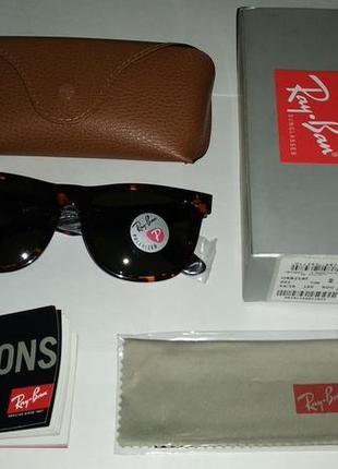 Очки солнцезащитные ray-ban wayfarer rb2140 902 новые реплика