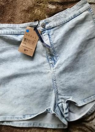 Шорты джинсовые высокая посадка jennyfer