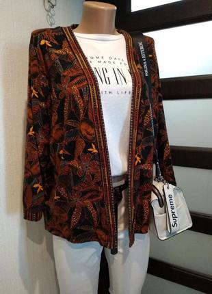 Отличный мягкий трикотажный кардиган кофта пиджак жакет накидка оверсайз