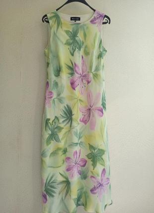 Нежное длинное платье из вискозы