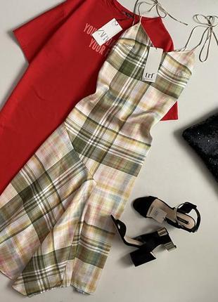 Новое утонченное платье комбинация zara