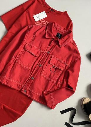 Крутая джинсовая куртка оверсайз bershka