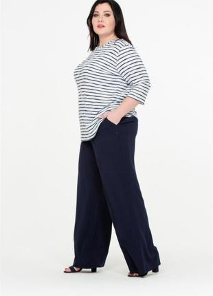 Женские широкие брюки штаны палаццо большого размера m&s