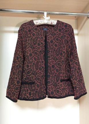 Женский жакет пиджак из красивой ткани с золотой нитью