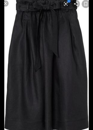 Летняя льяная юбка миди cotton 💯 лен