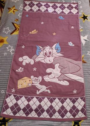 Хлопковое( льняное) полотенце размер 70х140 см