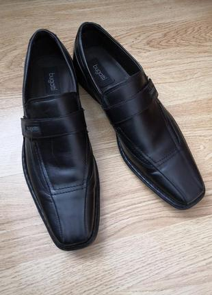 Кожаные туфли бренда bugatti, размер 44