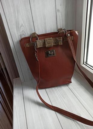 Кожаная сумка кросбоди1 фото