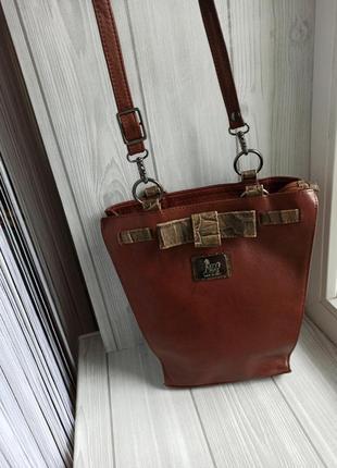 Кожаная сумка кросбоди2 фото