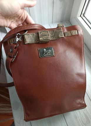 Кожаная сумка кросбоди3 фото