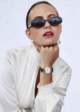 Солнцезащитные ретро очки роговые, овальные очки винтажные леопард, окуляри сонцезахисні