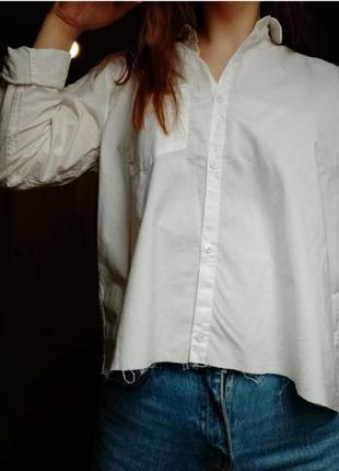 Рубашка с необработанным низом