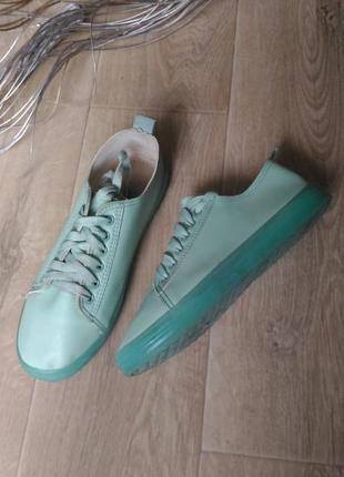 Мятные кеды, кроссовки на силиконовой подошве, размер 39
