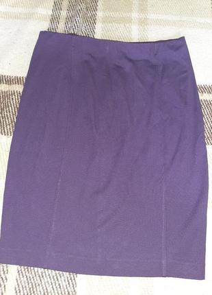 Юбка фиолетовая, строгая