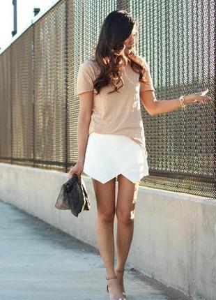 Фирменные шорты юбка zara