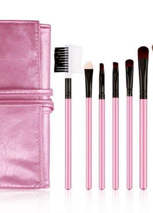 Набор кистей для нанесения макияжа в мягком чехле 7шт bioaqua