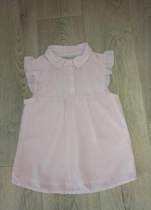 Нежно розовая, шифоновая блузка 6 лет