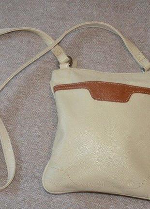 Актуальная кожаная сумка mark & spencer, кроссбоди