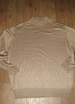 Мужской свитер/пуловер из полированной шерсти, состояние идеальное