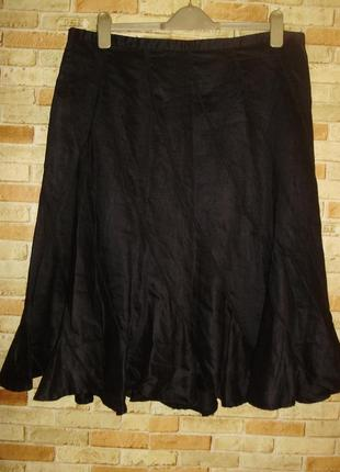Красивая натуральная юбка клинка глянцевый блеск 18/52-54 размера