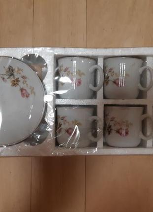Набор кофейных чашечек с блюдцами