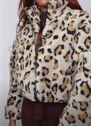 Стильная леопардовая шубка primark