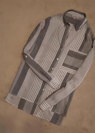 Рубашка v образный вырез в полоску размер 16 next