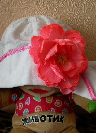 Панама с цветком, 2-5лет