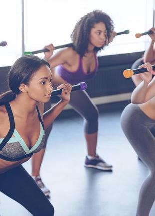 Бодибар 6 кг lecosport body bar гимнастическая палка штанга гриф для домашних тренировок