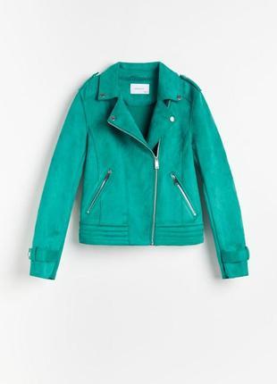 Замшевая куртка косуха reserved под замш