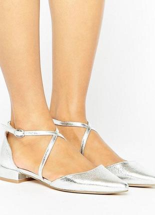 Балетки с острым носком босоножки асос asos glamorous