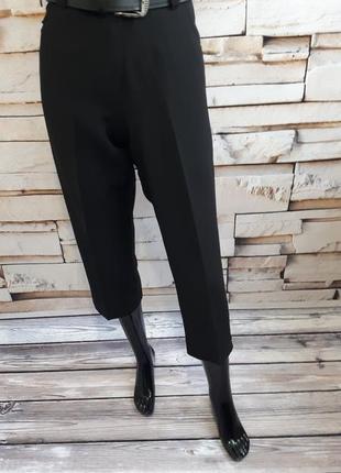 Актуальные укороченные брюки/ высокая посадка/ стразы