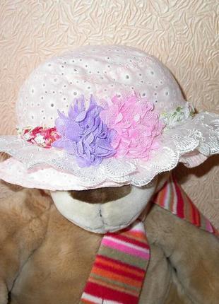Шляпка-панамка девочке 2-4лет