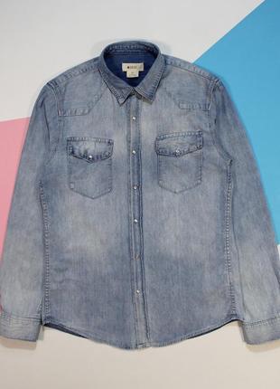 Моднейшая вареная джинсовка на заклепках от h&m