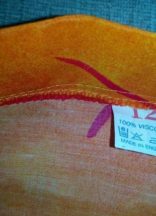 Юбка летняя яркая поямая вискоза длиная р 123 фото