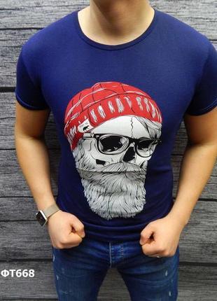 Скидка акция футболка мужская стильный принт есть размеры