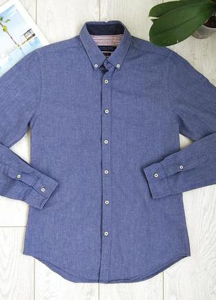 Рубашка zara 100%cotton