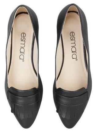 Балетки esmara экокожа, новые чёрные туфли размер 37 , новинка 2020!5 фото