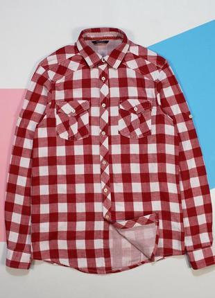 Сочная мягкая двуслойная приталенная рубашка от pull&bear