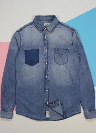 Классная приталенная джинсовка в оригинальном дизайне от esprit