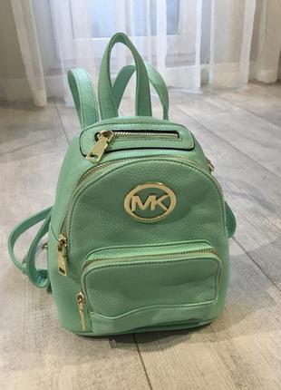 Рюкзак сумка michael kors мятного цвета